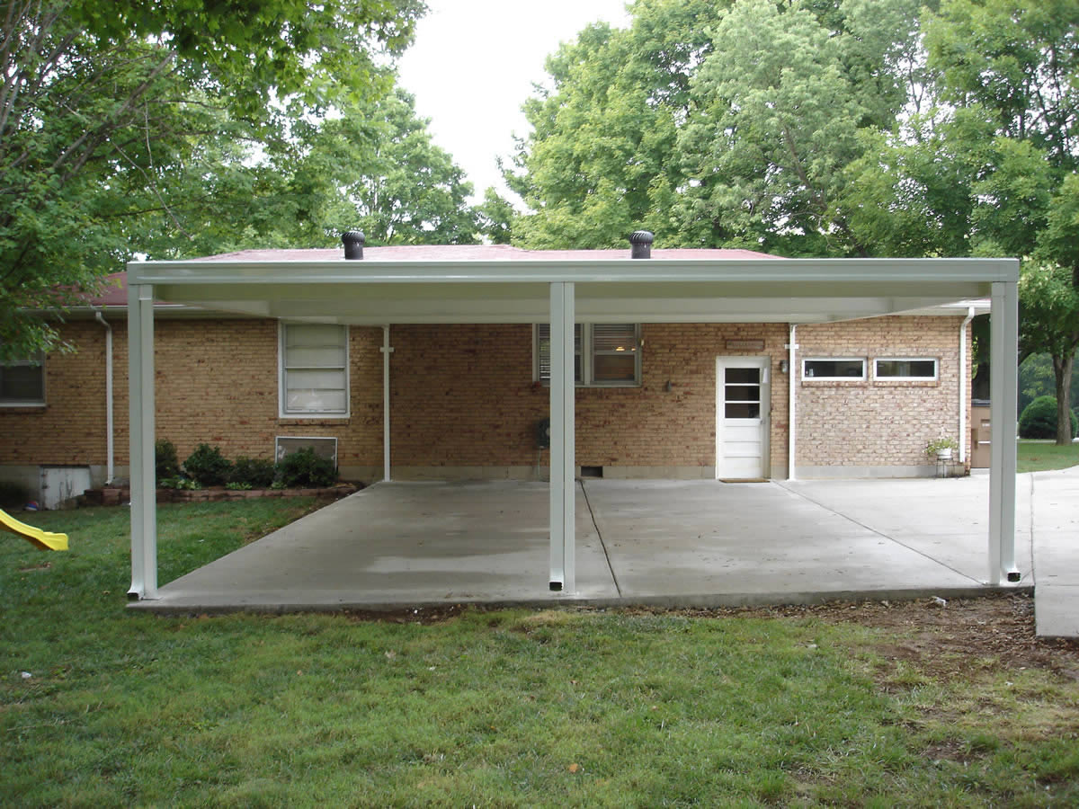 Carports nashville patios covers for Garage cost estimator free